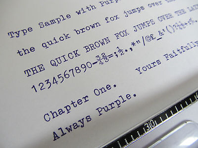 1 x 'OLIVETTI LETTERA 22' *PURPLE* TOP QUALITY *10 METRE* TYPEWRITER RIBBON