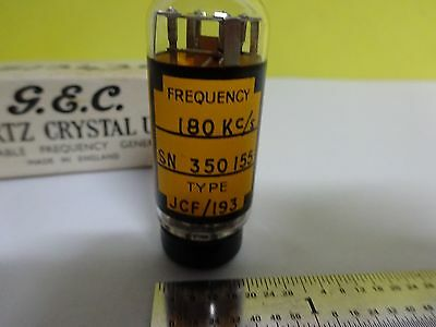 Antique Quartz Radio Crystal Gec England Glass Holder Frequency Control #W7-39 3