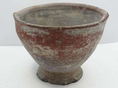 "Antique Pre-Columbian Oaxaca Valley Vessel Bowl   ~ 3.5"" 2"