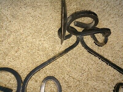 Vintage Gothic Medieval Wrought Iron Triple  Arm Candelabra Wall Sconce Fixture 10