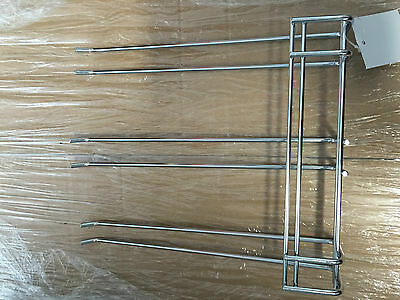 GLASS RACK TRIPLE PRONG Hanger Holder Wine Bar 27cm x 22cm 2