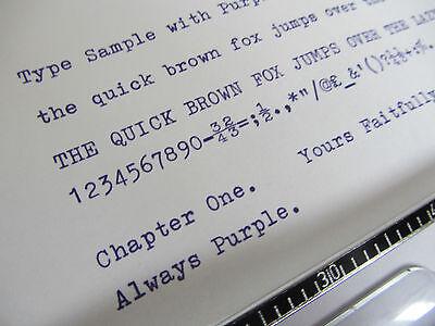 'olivetti Lettera 36' *purple* Top Quality *10Metre* Typewriter Ribbon + Eyelets 2