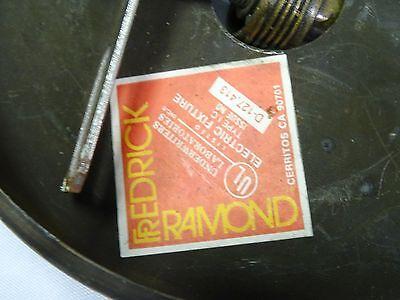 VINTAGE 70's MODERNIST FREDERICK RAMOND BRASS HEXAGONAL LIGHT CHANDELIER 11