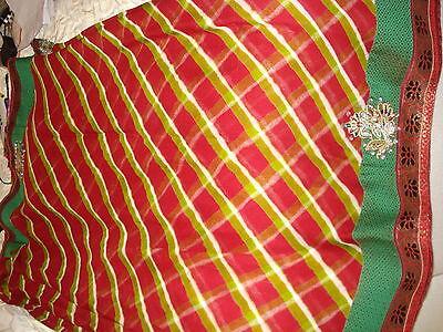 Deep Red/maroon Chiffon Indian Saree From Ahemedabad 4