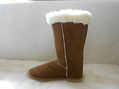 Ugg Boots Tall, Synthetic Wool, Lace Up, Size 8 Lady's/Men's 6 Colour Chestnut