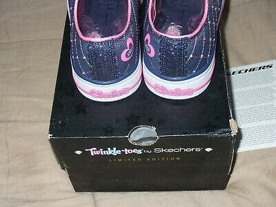 "Skechers Girl's Twinkle Toes Limited Edition Sz1.5 NWB. 10959L/DNPK 9"" IN LENGTH 6"