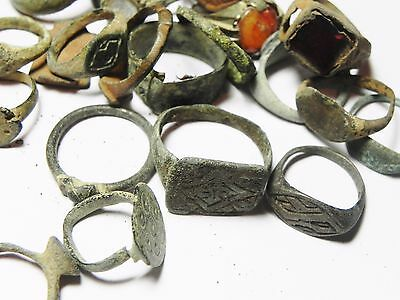 Zurqieh - Ancient Holy Land , Group Of 38 Ancient Bronze Rings 9