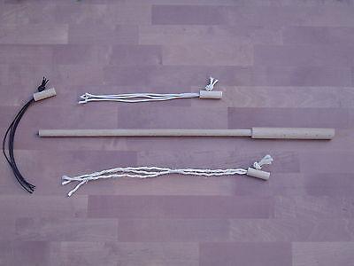 pipano Katzenangel 58 cm mit 3 wechselbaren Adaptern, Holz Spielangel, KSET158 2