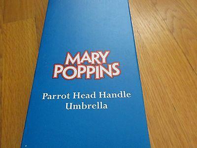 NEW Disney Mary Poppins Parrot Head Adult Full Size Black Umbrella- Costume