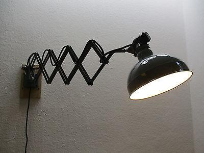 ORIGINAL RADEMACHER SCHERENLAMPE Werkstattlampe Wandlampe