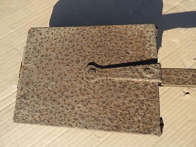 c.1870 uralte Backform? Waffeleisen? Küchenutensilie klappbare Form Eisen museal