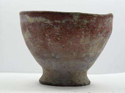 "Antique Pre-Columbian Oaxaca Valley Vessel Bowl   ~ 3.5"" 4"