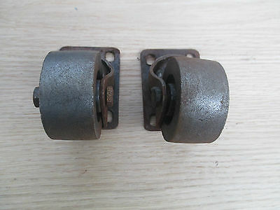 """2"""" Cast Iron Swivel Castor Wheels Cabinet Chair Furniture Trolley Table Casters 4"""