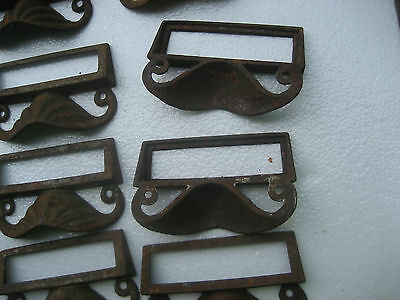 c1880 SET of 12 matching authentic VICTORIAN cabinet pull hardware 3.5 on holes 7