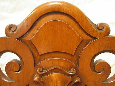 Quality pair of carved golden Oak hall chairs with pierced shaped back (ref 141) 8