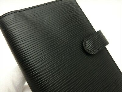 Louis Vuitton Authentic Epi Leather Black Agenda fonctionnel PM Diary cover Auth 5