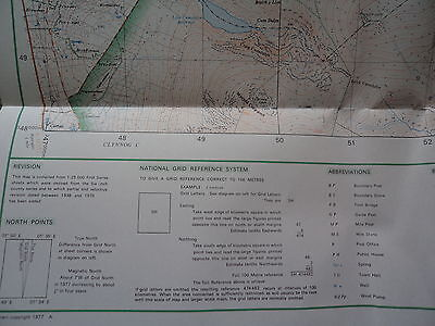 Ordnance Survey Map Snowdonia, Snowdon. 1977. Inc Llanberis, Caernarfon, Bangor 3