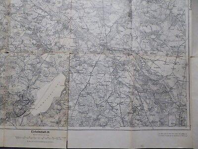 Landkarte EHB Nr.21, Ribnitz, Grimmen, Teterow, Demmin, Sülze, Franzburg, 1926