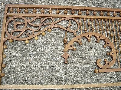 Antique Stick & Ball Oak Fretwork. Pierced corners with scroll design.8887 2