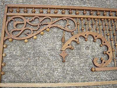Antique Stick & Ball Oak Fretwork. Pierced corners with scroll design.8887 2