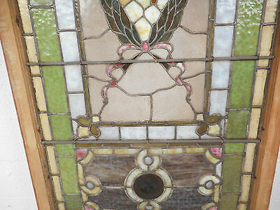 Vintage Stained Glass Window Panel (2939)NJ 4