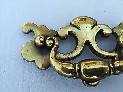 "Vintage Brass KBC Antique Hardware Chippendale drawer pull handle...3"" centers 2"