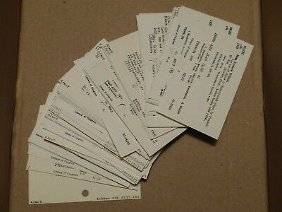 """Vintage School Library Catalog Cards Unique Craft Altered Art 3"""" x 5"""" lot of 50 5"""
