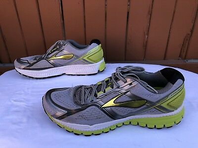 fb4fcc2511f ... Euc Mens Brooks Ghost 8 Running Shoes Size Us 12.5 Gray Lime Yellow  Green White 7