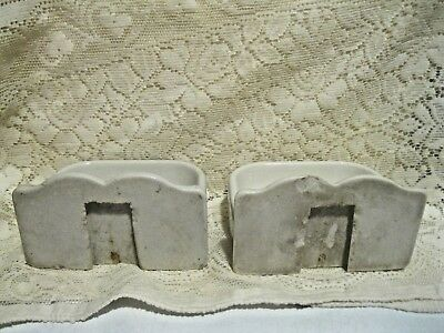 Vintage White Porcelain Bathroom Wall Mount Matching Soap Dishes 4