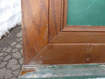 """early 20th century schoolhouse SLATE chalkboard FRAMED OAK molding 49.5"""" x 38"""" 6"""