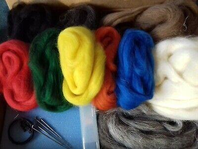 Hare & Badger Needle Felt Starter Kit 100% British wool UNBOXED 2