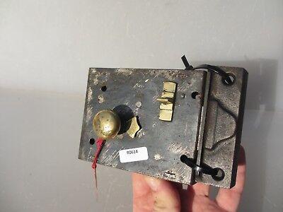 Victorian Iron Door Lock Antique Brass Bolt Handle Knob Old Bathroom? Georgian 5
