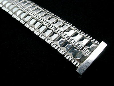 "Hawley-Rand Mens Vintage Watch Band 19mm 3/4"" Scissor Expansion Stainless Steel 2"