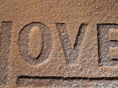 Antique Vintage Novelty Sign New England Origin Interior Decorate Shapes Letters 7