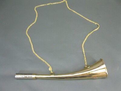 Messing Stethoskop Hörrohr Hearing Pipe Hörmaschine Ear Trumpet 30 cm mit Kette