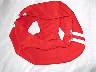 """Ladies GYMPHLEX Athletics SCARLET RED School Gym Shorts W28 Sz """"L"""" UK 12-16 BNIB 4"""