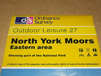 North York Moors: Eastern Area by Ordnance Survey (Sheet map, folded, 1986) 2