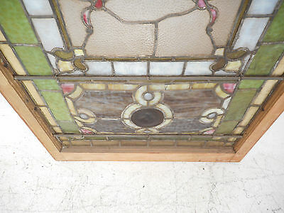 Vintage Stained Glass Window Panel (2939)NJ 7