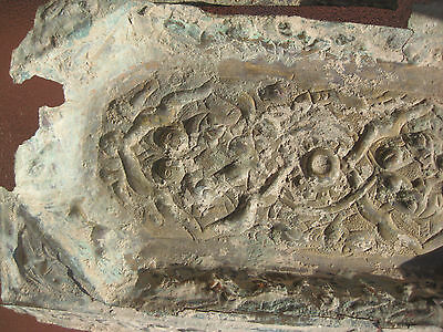 Phoenician (?) bronze plate with images of people, animals and inscriptions 3