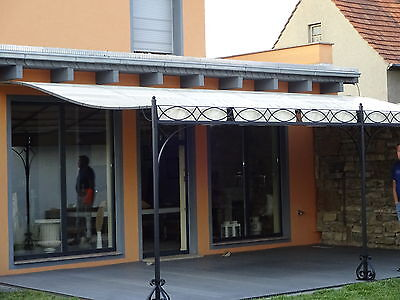 terrassen berdachung markise pergola carport metall berdachung 3 x 3 m nach ma eur. Black Bedroom Furniture Sets. Home Design Ideas