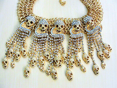 z6267 6strands transparent massive faceted crystal bead necklace 19inch