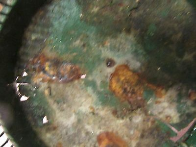 Antique Vintage Massillon Ohio Daisy Metal Wire Green Wastebasket - NEAT 8