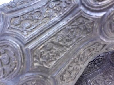 Pr.  18th/19th Century Persian Islamic Embossed Bronze Metal Vases/Urns 3