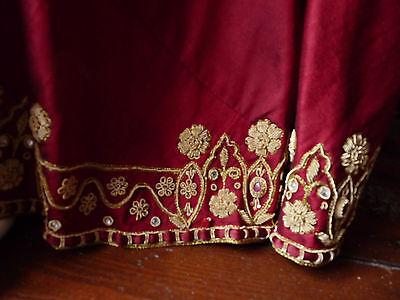 Asian Wedding Red Lengha & Dupatta     (M)  Uk 8/10  Ret £650    Bnwt 5