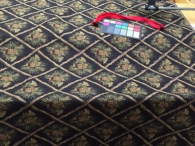 1 Of 4 Pinecone Upholstery Fabric Mountain Lodge Cabin Rustic Bears Tapestry Chenille