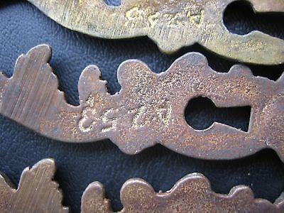 6 Antique Drawer Pulls-8 Drawer Plates Ornate Dresser Key plates Knobs- Vintage 8