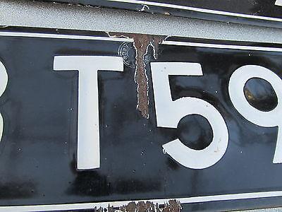 Vintage Expired Enameled Bulgarian Car License Plate Registration Number For Car 5
