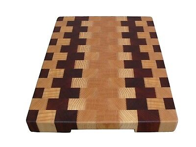 Cutting Board End Grain, Wooden, Handmade, with Feet, Chopping Board, Kitchen 3
