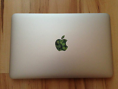 1 of 3free shipping 3x weed ganja marihuana pot highlife apple macbook glowing sticker