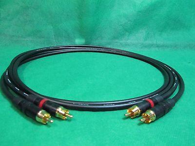 8 Ft Pair Canare L4E6S Blue Star Quad RCA to RCA HIFI Audio Cable.